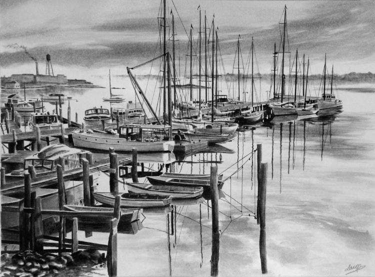 London - painting, watercolor, illustration - egral | ello
