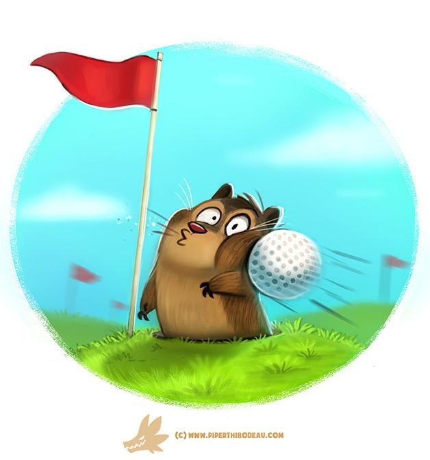 Daily Paint Golfpher - 1236. - piperthibodeau | ello