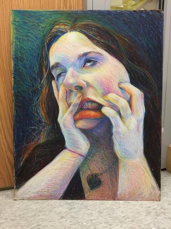 Crayon Portrait - risd, homework - katherinecafaro | ello