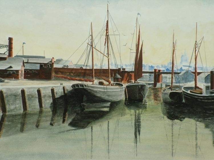 Newport - painting, watercolor, marine - egral   ello