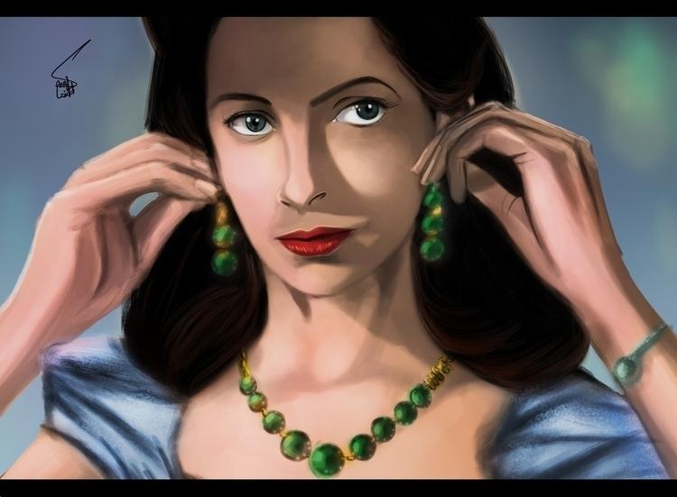 Sister Clodagh - painting - sanafarooq | ello