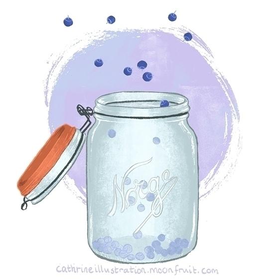 Blue berries jar, inspired bran - cathrineillu | ello