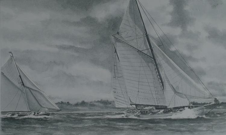 Cyrana - painting, watercolor, marine - egral | ello