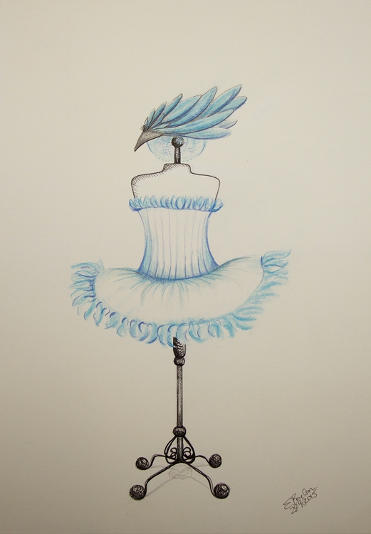 Snow Feather Tutu Design - ballerina - elizabethboylan | ello