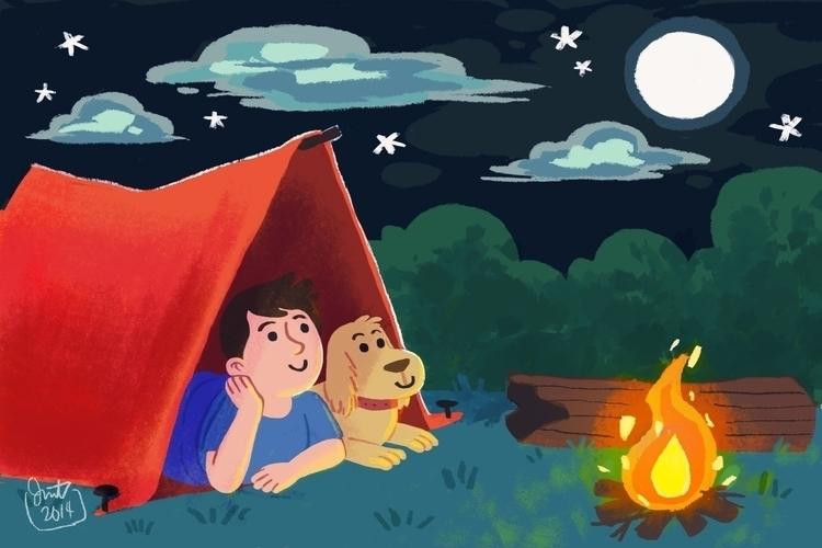 Camping - camping, illustration - jm_amante02 | ello