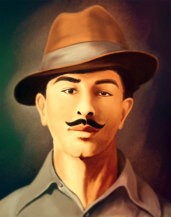 Bhagat Singh - illustration, painting - jassi-1125 | ello