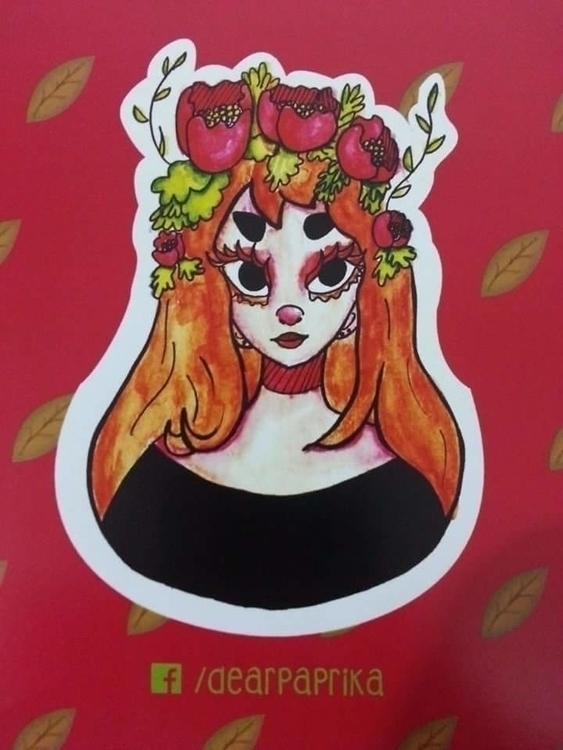 Watercolor flower crown - watercolor - dearpaprika | ello
