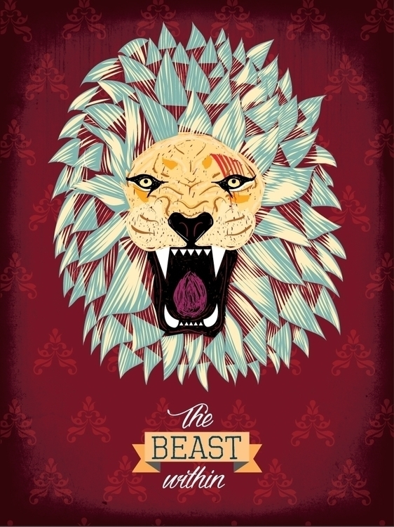 Beast - illustration, lion, beast - mizhellin | ello