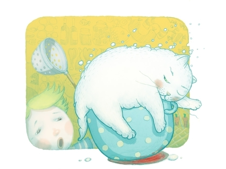 Milky-cat - illustration - vk050 | ello