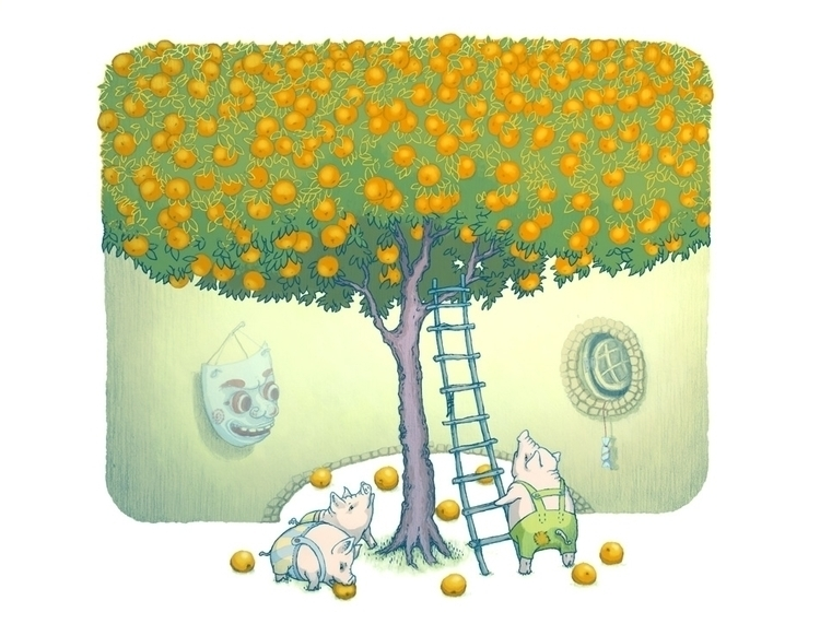 Orange-tree - ilustration - vk050 | ello