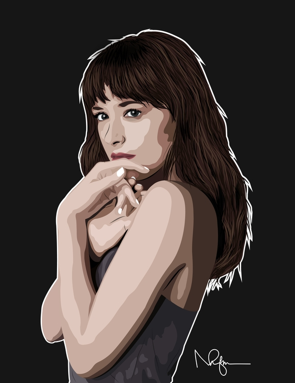 Anastasia Steele - illustration - mfhnavarro | ello