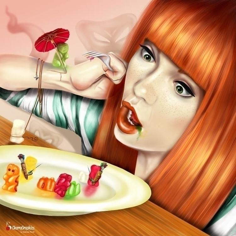 Battle Gummy Bears - illustration - cherrygraphics | ello