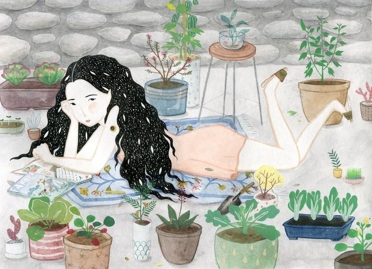 vegetable garden - art, illustration - misi-1237 | ello