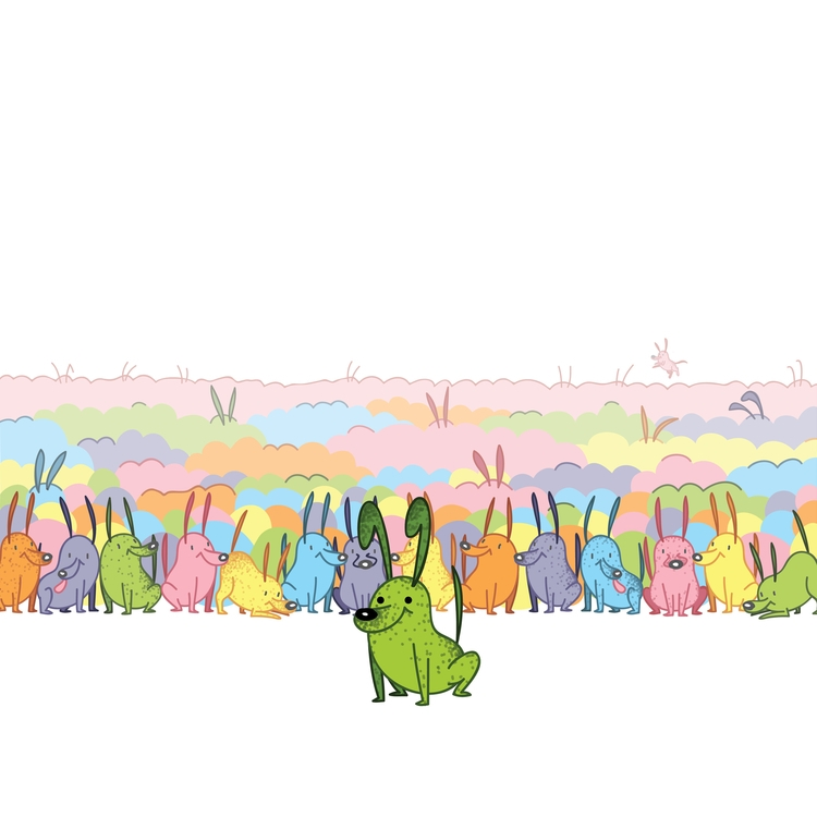 Jellybean - illustration, dog, food - kaseythegolden   ello