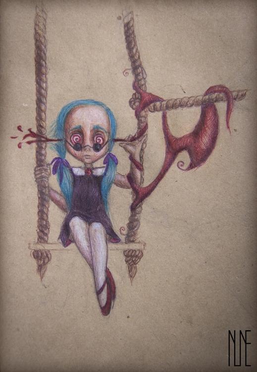 Full project - Adams, girl, cyanhair - ninevehhevenin | ello