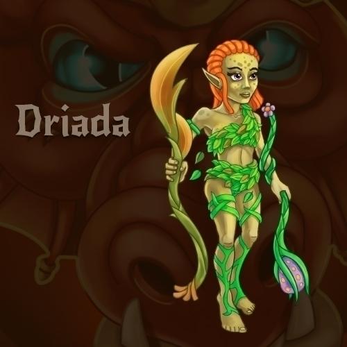 gameart, rpg, driada, characterdesign - vadich | ello