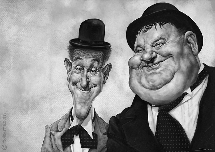 Laurel - laurelandhardy, illustration - pol-5095 | ello