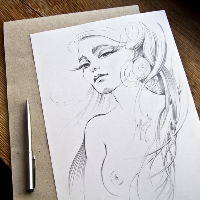Thoughts Afar - original pencil - annahannahart | ello