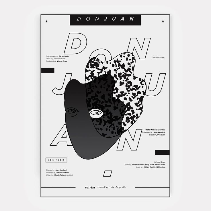 Don Juan | theatre poster - illustration - jovana-1168 | ello