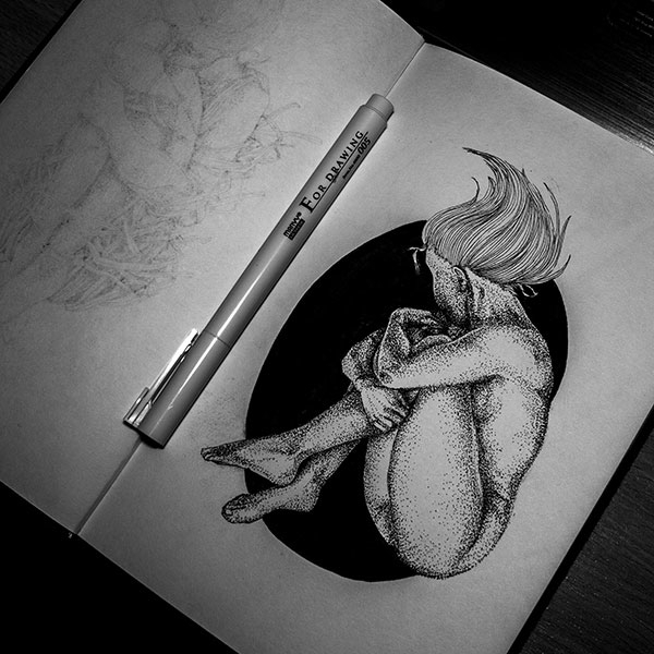 Weightlessness - illustration, drawing - karolina-4327 | ello