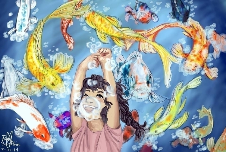 based dream - koi, fish - fairyjelly | ello