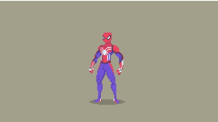 Spider Man Pixel Art - Suit - illustration - planckpixels | ello