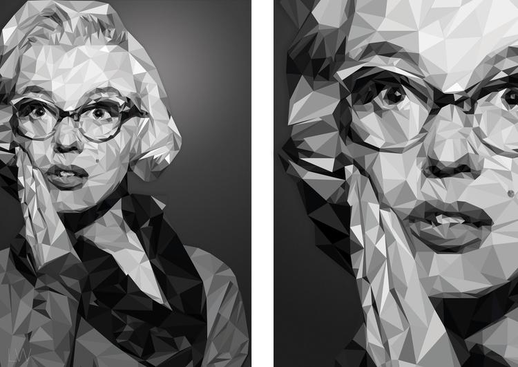 Marilyn Monroe - illustration, design - leoniewilliamson | ello