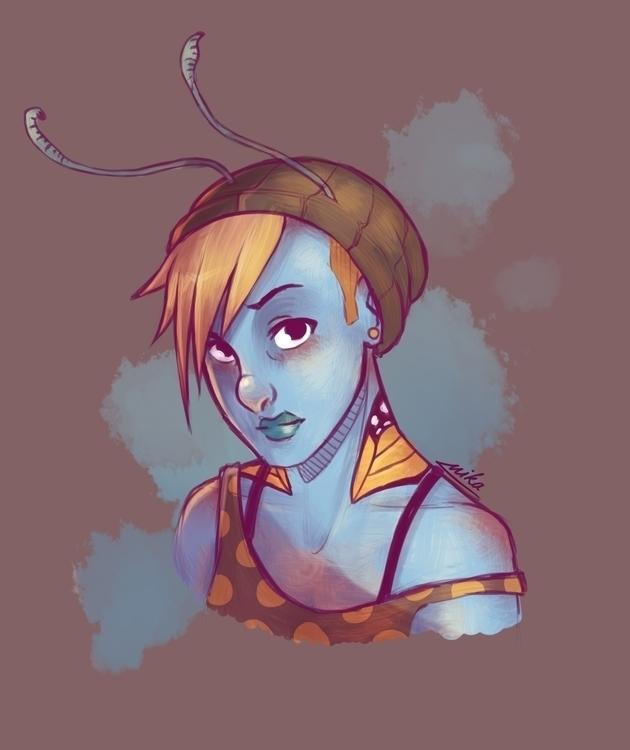 Paurelie - illustration, characterdesign - ryuutsuart | ello