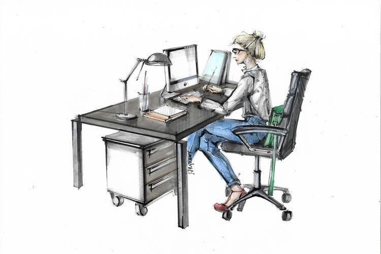 illustration, painting, characterdesign - jdrukker | ello