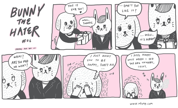 bunnythehater, illustration, comic - pampamliu | ello