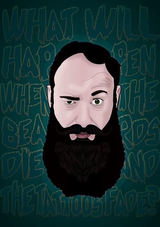 Beard Poster fun - typography, design - joephelan | ello