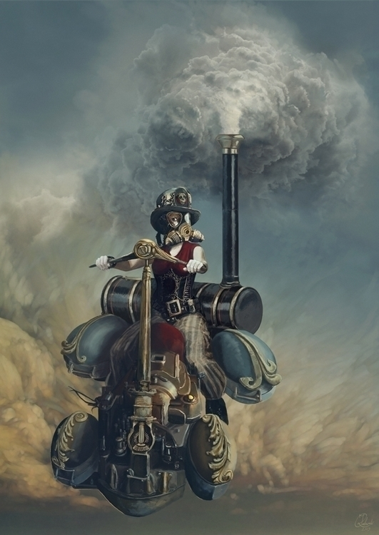 Steam - illustration, conceptart - q2jacek | ello