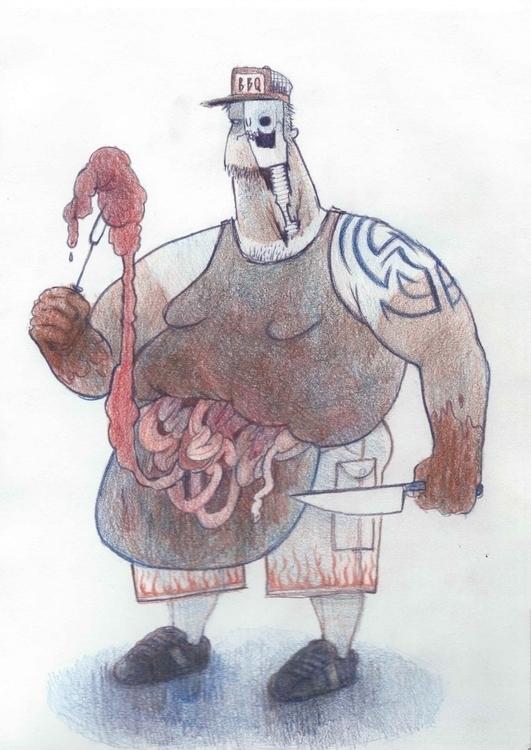 Zombie Chef - bodyhorror, horror - elenabrunner | ello