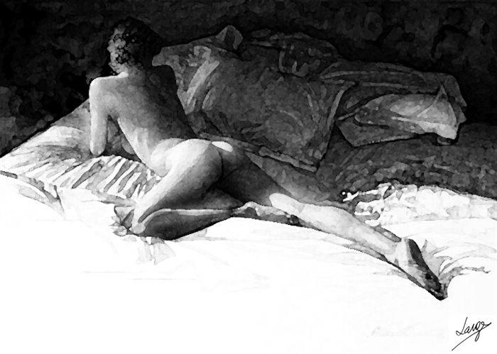 Morning - watercolor, blackandwhite - egral | ello