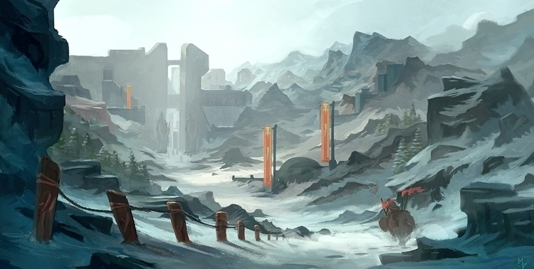 Glacial Kingdom - illustration, painting - markpancham | ello