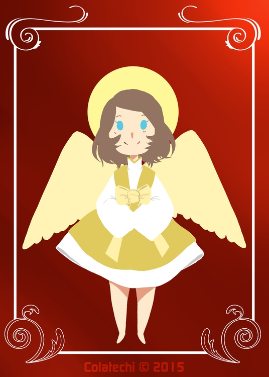 Angel Christmas Card commission - colatechi | ello