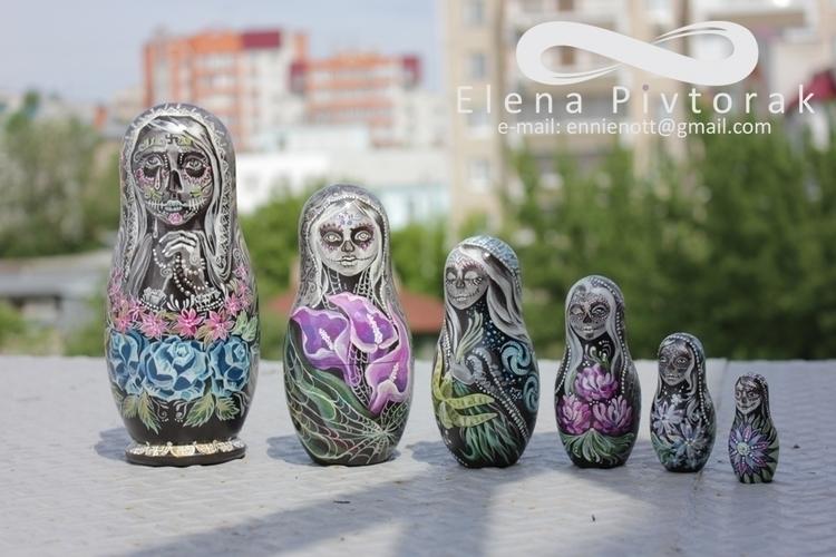 painting, figure, muertos, matreshka - victorovna | ello