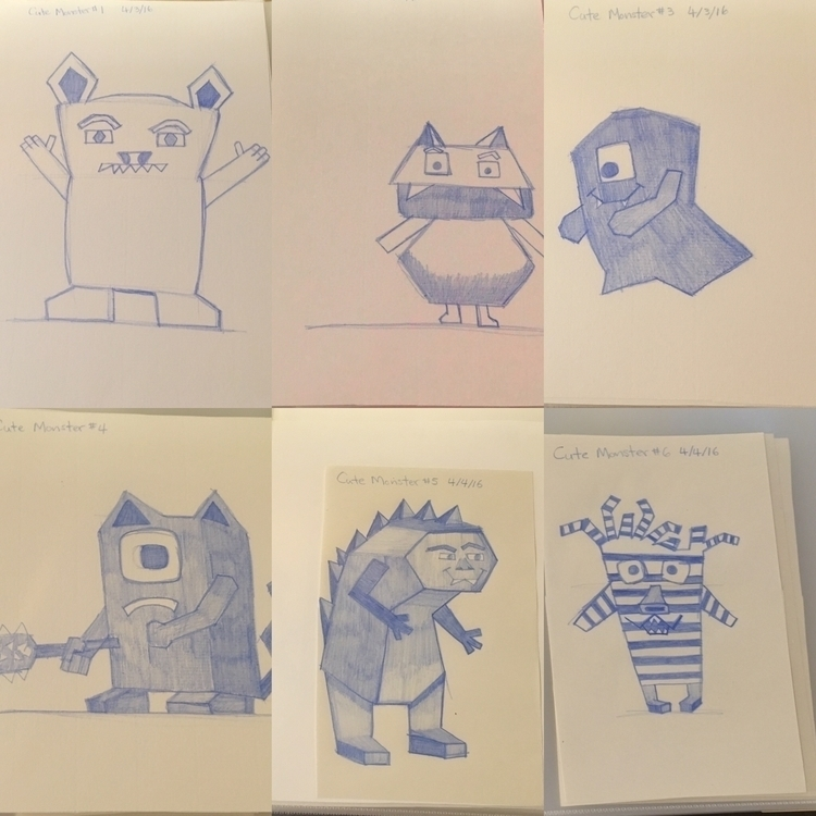 Cute monsters - lindamationartist | ello