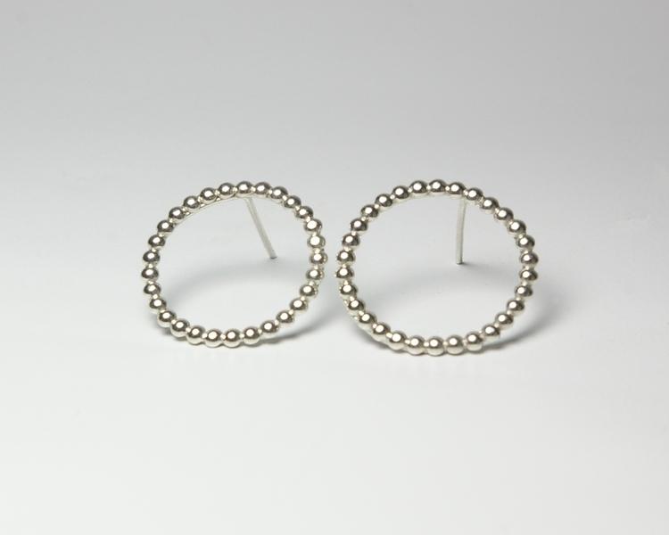 Sterling Silver Ball Wire Circl - tessbulman | ello