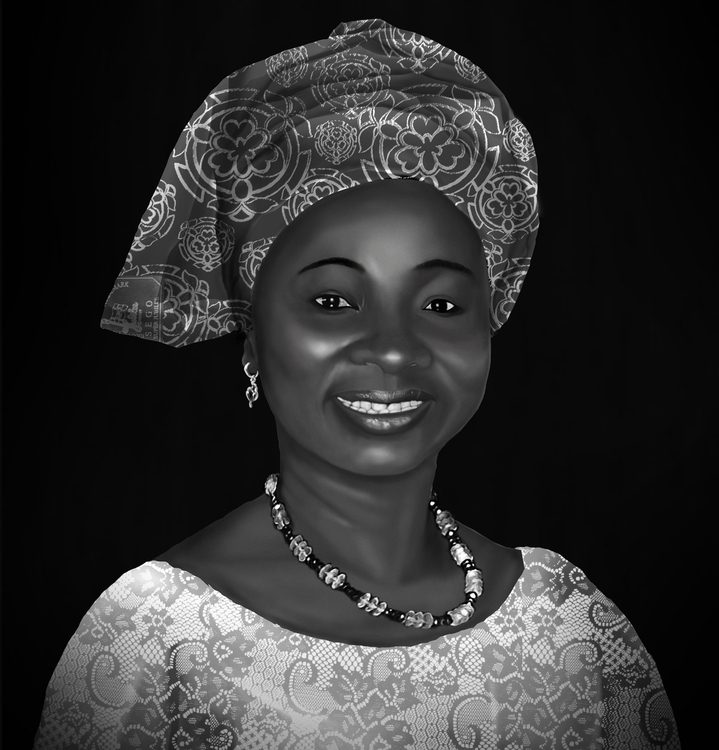 Portrait god-mother - painting, #digitalart#drawing#art#drawing#acrylic#paint#collage - akinwandeayodeji | ello