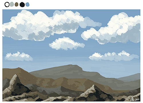landscape, speedpainting, digitalart - alexandrasketch | ello