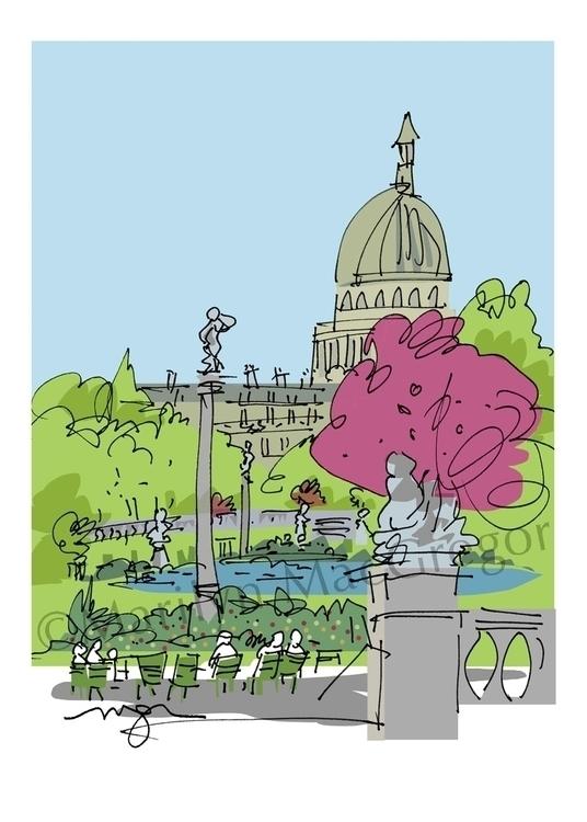 Paris Luxembourg Gardens Panthe - macgregorart | ello