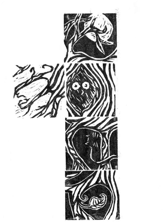 minis - wood, woodcut, print, illutration - marianazancheta   ello