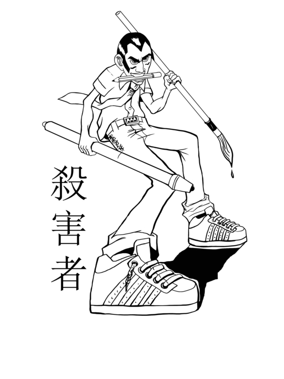 Art slayer - illustration, characterdesign - akinwandeayodeji | ello