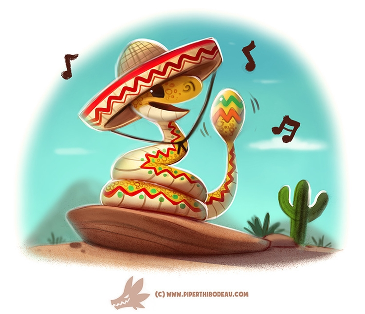 Daily Paint Rattlesnake - 1239. - piperthibodeau | ello