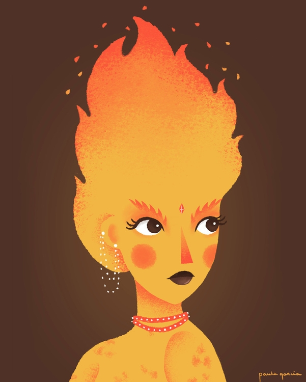 Fire Spirit Paula García - illustration - paulagarcia-1101 | ello