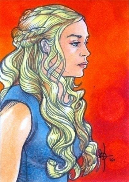 Daenerys Targaryen - illustration - leonbraojos | ello