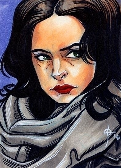 Jessica Jones - illustration, jessicajones - leonbraojos | ello