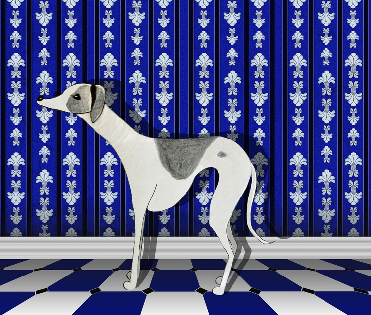 Didi whippet - Whippets, dogs, surfacepattern - elizabethboylan | ello