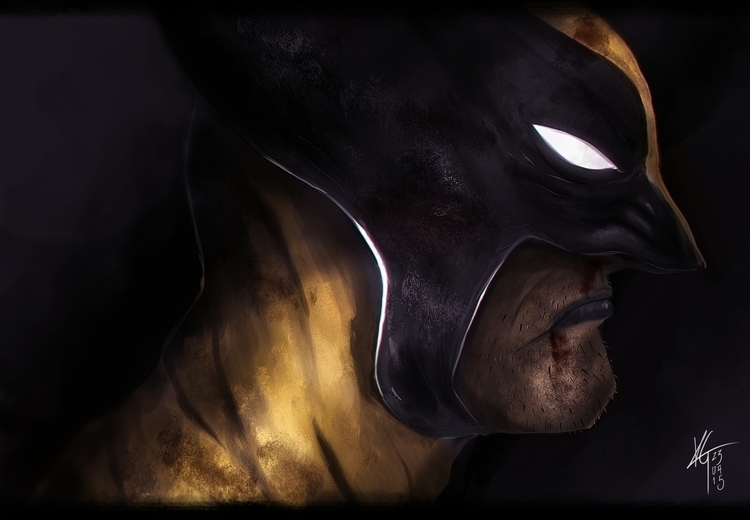 Wolverine - illustration, painting - silenceinspace | ello